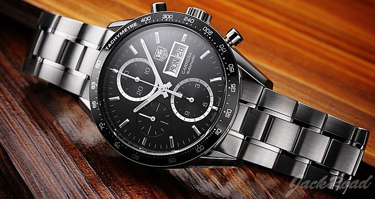 Tag heuer carrera calibre 16 day date automatic chronograph 43mm steel watch replica