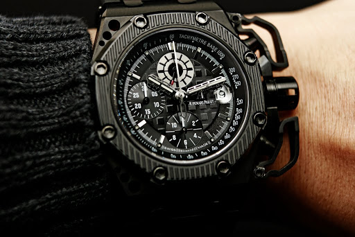 Black dial audemars piguet royal oak offshore survivor replica watch replica watches 59 for Royal oak offshore survivor